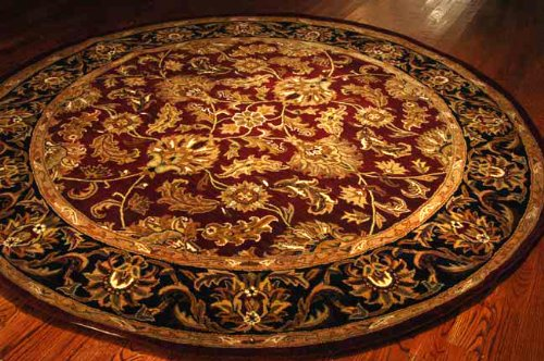 Safavieh Heritage HG628C Red 6' Round Handmade Wool Area Rug