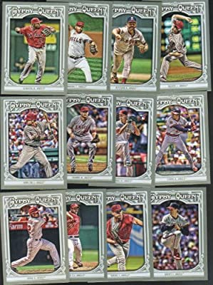 Los Angeles Angels 2013 Topps GYPSY QUEEN MLB Baseball Complete Mint 13 Basic Card Team Set with Josh Hamilton Albert Pujols Rod Carew Plus