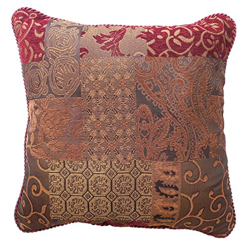 Galleria Red Square Pillow by Croscill