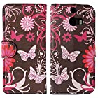 myLife (TM) Chocolate Brown + Pink Butterfly {Graphic Design} Faux Leather (Card