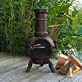 Firefox Chimineas - Athena Small 100 Cast Iron Chiminea - Bronze - 85cm 33 X 45cm 18 H X Dia by Firefox Chimineas