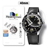 Smartwatch Screen Protector Film 40mm for Round Wrist Watch Healing Shield Analog Watch Glass Screen Protection Film (40mm) [1PACK] (Color: 40mm)