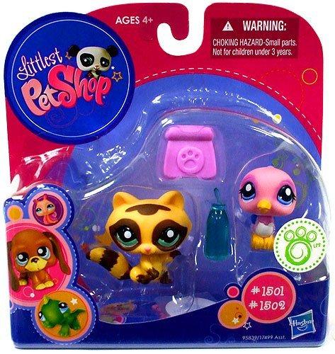Buy Low Price Hasbro Littlest Pet Shop 2010 Exclusive Collectible Figure Raccoon Bird (B0042GBK5M)