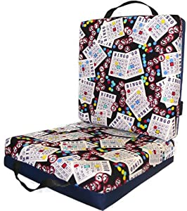 Blue Bingo Card Seat Double Cushion by National Bingo