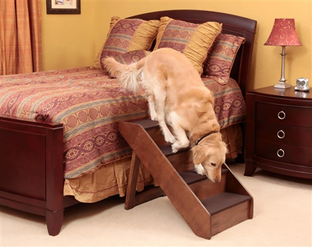 Wood Dog Stairs For Bed