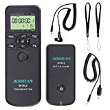 AODELAN Camera Wireless Shutter Release Timer Remote Control for Nikon D850,D810,D700, D500, D3, D4, D5, D4s,D3100, D5000, D7200, D600, D610, D750, D3200, D3300 .Replace MC-DC2,MC-36,MC-30A (Color: Nikon)