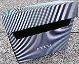 5 Papiertiger Karteikästen A6 Karton Design weißblau faltbar passend für