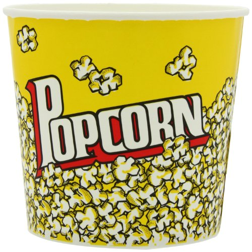 Snappy Popcorn 85oz Yellow Popcorn Cups, 25 Count, 4 Pound