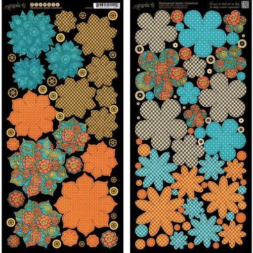 Graphic 45 Steampunk Spells Flowers Paper Pad (Flower Steams compare prices)