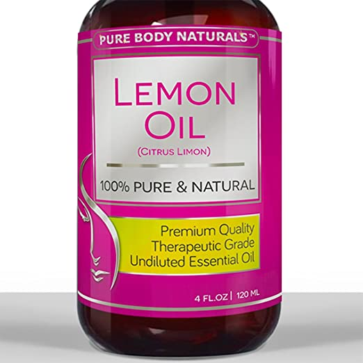 BEST LEMON OIL ★ HUGE 4 Oz ★ 100% Pure Cold Pressed from Real Lemons ★ PREMIUM QUALITY Essential Oil ★ Aromatherapy & Massage Oil ★ Perfect XMAS GIFT for Men & Women ★ Safe For Ingestion ★ Great Detox For Body and Boost Fat Burning Naturally ★ Many Surprising Household Uses ★ Therapeutic Grade ★ Natural Clean Lemon aroma for your Home and Kitchen ★ We'll refund your money if not satisfied! Try Risk FREE!