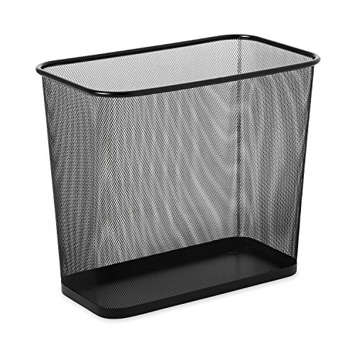 Rubbermaid Commercial FGWMB30RBK Concept Collection Steel Mesh Open-Top Waste Basket, 7.5-gallon, Black (Commercial Waste Basket Liners compare prices)