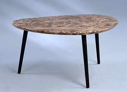 Dreams4Home Couchtisch 'Niza' - Tisch, Sofatisch, Beistelltisch, Ablagetisch, 90 x 45 x 72 cm, mit Tischplatte MDF Beton Optik dunkel - 25mm, Gestell: Massivholz schwarz lackiert, Wohnzimmer, Gästezimmer, Beton Optik dunkel/schwarz lackiert