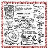 バレンタインデーの挨拶 - バレンタインとキューピッド ~ クリアスタンプ (9x18cm) // Valentine's Day Greetings - Valentine and Cupids ~ Clear stamps pack (9x18cm) FLONZ