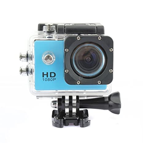 TopSku cadeau de Noël Caméra Full HD 1080P Casque de vélo Sports DV Caméscope SJ4000 imperméable pour appareil photo (Bleu)