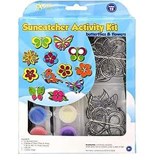 The New Image Group Suncatcher Group Activity Kit 16PK/Butterfly & Flowers