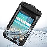 Universal Waterproof Case with Built in Waterproof Adapter Waterproof Earphones and Armband for LG G3 LG-F400 32GB (Black)