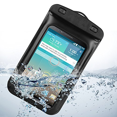 Universal Waterproof Case With Built In Waterproof Adapter , Waterproof Earphones And Armband For Lg G3 Lg-F400 32Gb (Black)
