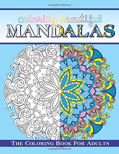 Beautiful Mandala Pattern Coloring Books Art Design Stress