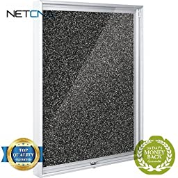 94CAA-96 Economy Enclosed Bulletin Board Cabinet (Rubber-Tak) - Free NETCNA Touch Screen Pen - By NETCNA