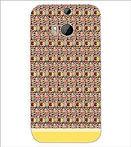 HTC ONE M8 EYE PATTERN Designer Back Cover Case By PRINTSWAG
