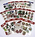 39XX1-PE-101 Christmas Paper Bliss 20 packs Festive Themed Embellishments for Card Making and Scrapbooking. Self Adhesive, Beautifully Crafted Card Toppers - Contains Christmas Trees, Snowmen, Raindeer, Presents and Gifts, Decorations, Stockings, Holly and more