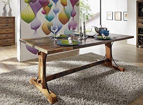 Mobili in legno massiccio laccato legno massiccio tavolo da pranzo 140 x 90 massiccio mobili in legno massiccio multicolore Spirit #09