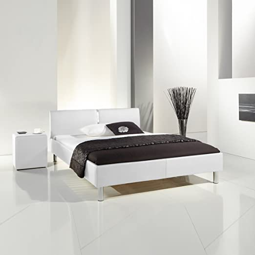 Meise Möbel 340-10-30000 Polsterbett Laola mit Kunstlederbezugbezug, Liegefläche, 140 x 200 cm, weiß