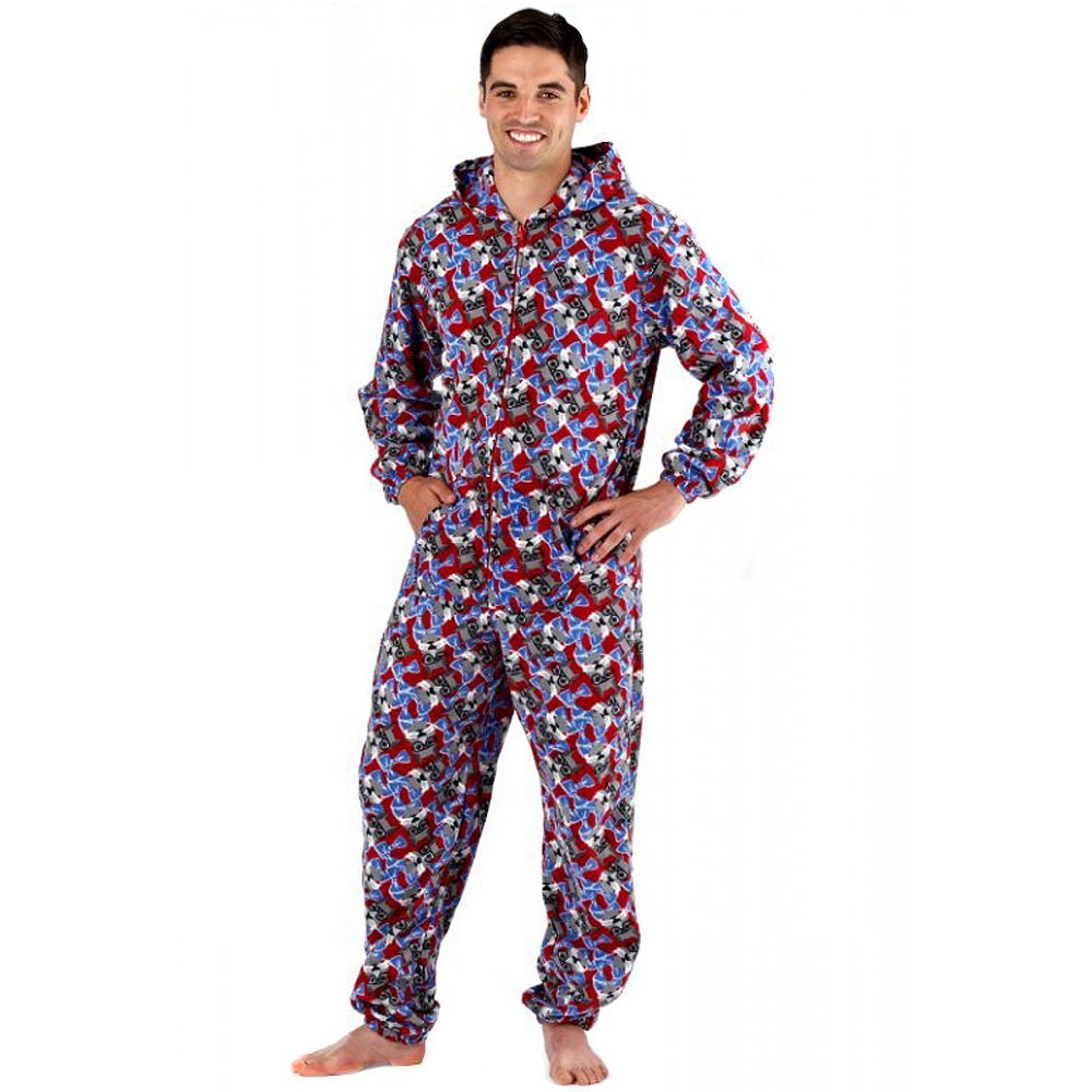 Adult footed man pajamas
