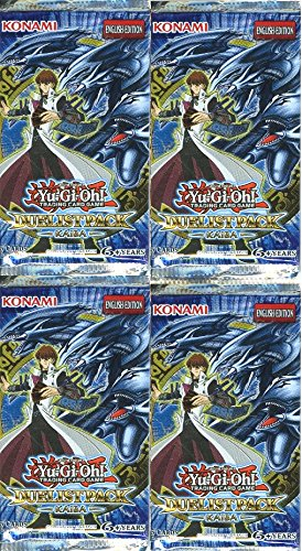 Lot-of-FOUR-4-Yugioh-Duelist-Kaiba-Factory-Sealed-Booster-Packs-Very-Rare-Includes-20-Cards