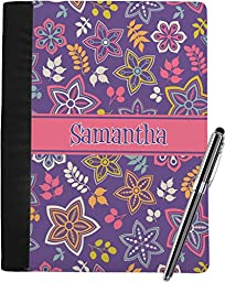 Simple Floral Notebook Padfolio