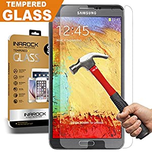 [Lifetime Warranty] Samsung Note 3 Glass Screen Protector, InaRock 0.26mm 9H Tempered Glass Screen Protector for Samsung Galaxy Note 3 N900 N900v N900t Most Durable [Easy-Install Wings] Rounded Edge