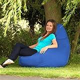 Designer Recliner Gaming Bean Bag BLUE - Indoor & Outdoor Beanbag Chair (Water Resistant) by Bean Bag Bazaar®