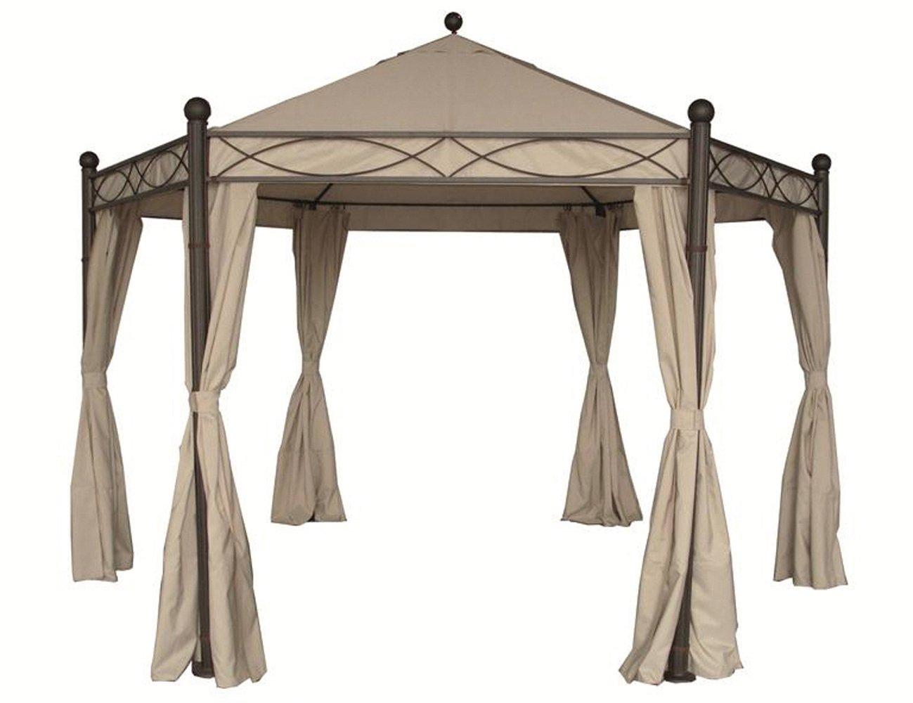 Siena Garden 407826 Seitenteile zu Pavillon Kenia 6eck Polyester natur
