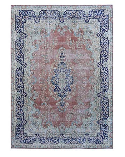 Kalaty One-of-a-Kind Pak Vintage Rug, Pink/Blue, 9′ 5″ x 13′