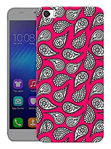 "Humor Gang Indian Ethnic Pattern Red Printed Designer Mobile Back Cover For ""Huawei Honor 6"" (3D, Matte Finish, Premium Quality, Protective Snap On Slim Hard Phone Case, Multi Color)"
