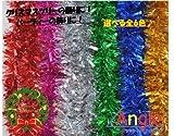 Angle 【Xmasツリー飾りシリーズ】 キラキラ モール 全6色 オマケ付き! (紫)