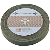 Country Brook Design® 1 Inch Olive Drab Green Lite Weight Nylon Webbing, 25 Yards
