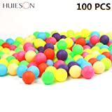 Prom-near 100Pcs 40mm 2.4g Colored Ping Pong Balls Entertainment Table Tennis Balls Mixed Colors for Game and Advertising