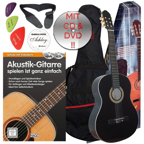 ashley-classical-guitar-with-bag-colour-black-size-4-4-set-suitable-from-ca-16-years-old