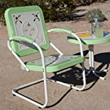 Paradise Cove Retro Metal Arm Chair Color - Green