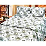 Cosmosgalaxy Cotton Double Bedsheet With Pillow Covers - Queen Size, Multicolor - B00SWKP24Y