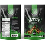 Carolina Reaper Peanuts small batch Super Jumbo Peanuts fused with the world's hottest pepper crunchy, sweet, intense and insanely addictive - A Perfect gift for spicy food and hot snack lovers (Mild)