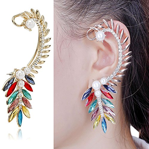 CIShop Charateristic Diamond Angel Wing Earcuff Punk Gothic Ear Wrap(Left Ear)