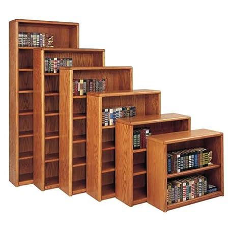 "Martin Furniture Contemporary Oak Collection Three-Shelf Bookcase 36"" H, Medium Oak"