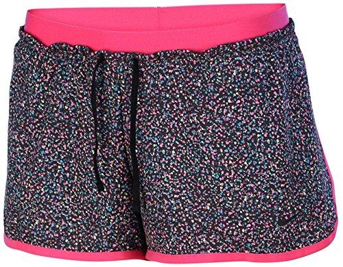 Nike Women's Dri-Fit Full Flex 2 In 1 Training Shorts-Black/Pink-XL