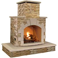 Natural Stone Propane Outdoor Fireplace