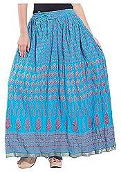 Magnus Women's Long Skirt (SKT487, Blue, L)