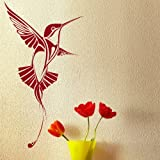 Humming Bird Wall Sticker / Decal Transfer / Vinyl Graphic Stencil SML/BLK bn20