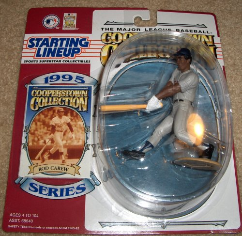 1995 - Kenner - Starting Lineup - Cooperstown Collection - Rod Carew #29 - Minnesota Twins - Vintage Action Figure - w/ Trading Card - Limited Edition - Collectible