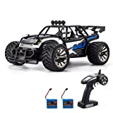 KOOWHEEL Electric RC Car Off road Cars 2.4GHz Radio Remote Control Truck Monster 1:16 Scale 2WD High Speed Crawler USB Charger Car with 2 Rechargeable Battery (Tamaño: 1:16)